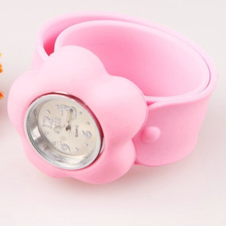 New fanshion colorful promotional silicone slap watch for children