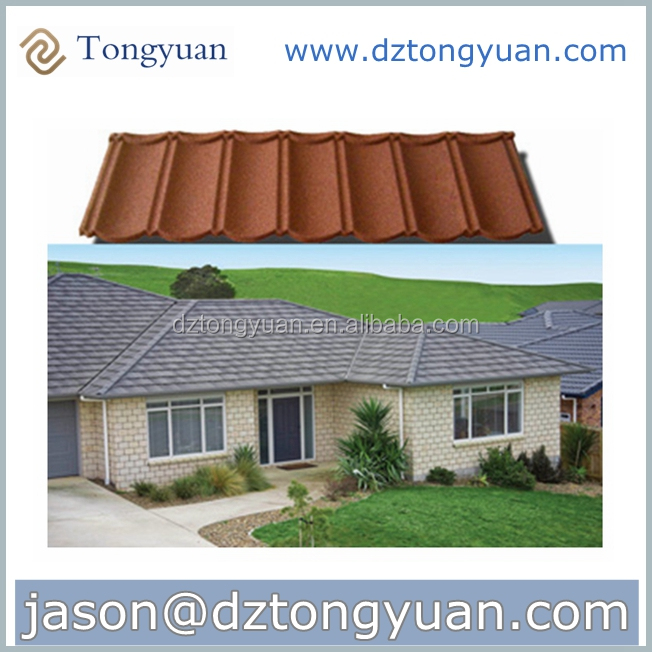 Mega March Sourcing Tongyuan Stone Coated Metal Roof Tiles