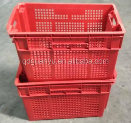 Fruit /vegetable crate ,storage stackable and nesting plastic box