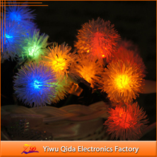 Hot sell LED wool ball garden string light Christmas string light