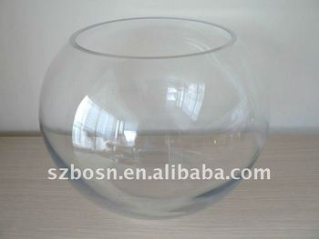 ball shaped cylindrical glass fish aquarium