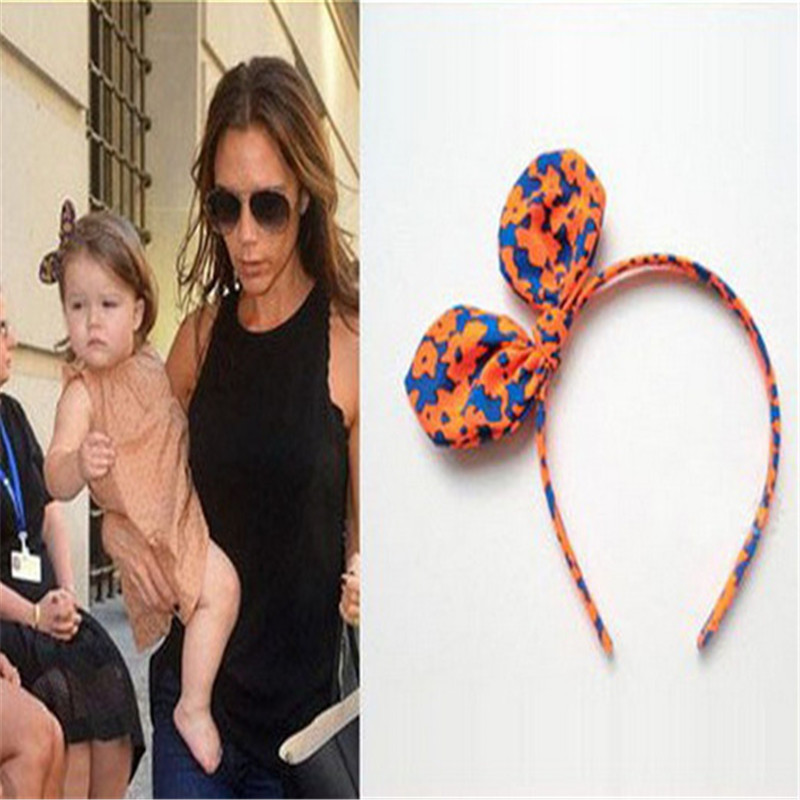 Cheap custom design nylon grosgrain bow headband haic clips fabric kids hair baby headband for child AHB1012