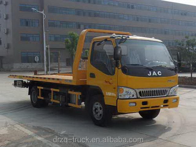 JAC 6 ton flatbed wrecker tow truck one carry two car