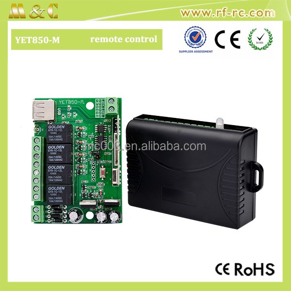 High quality 4 Channel 433MHZ RF Radio Wireless Controller Module Remote Control