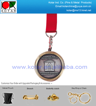 Custom high quality two tones big metal medal