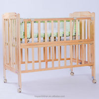 2014 cheapest price solid baby wooden bed baby crib MB-1018QS