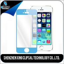 Mobile phone electroplaeted mirror tempered glass colorful screen protector for iphone 5s 5c 5