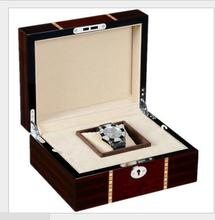 Metal Hardware Wood Material gift box for watch