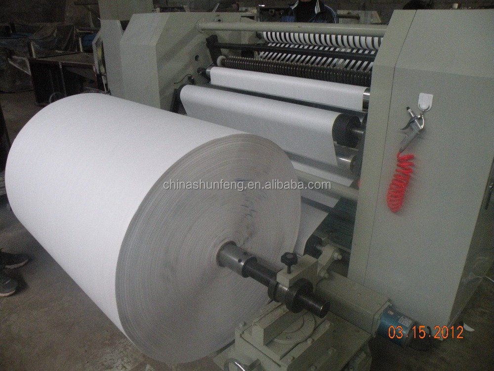 Automatic adhesive tape label paper slitting machine, Plastic PET film bopp tape slitting machine, slitting rewinder