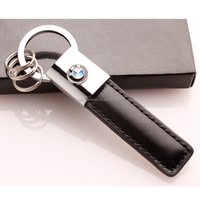 Wholesale PU Leather car key chains with gift box packing