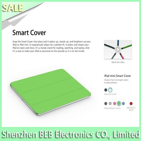 On sale tablet smart cover for ipad mini