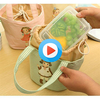 Canvas Cooler Bag Student's or Office worker's Portable Lunch dinner bags Waterproof thicker insulation package ice pack
