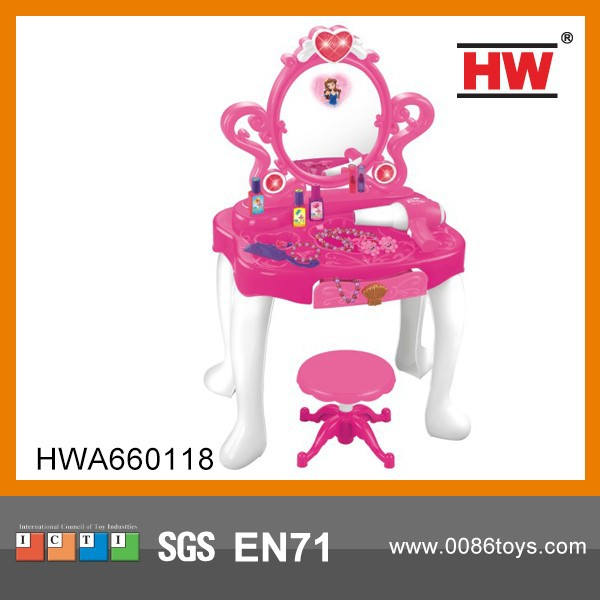 Girls Play Sets Plastic children's dressing table