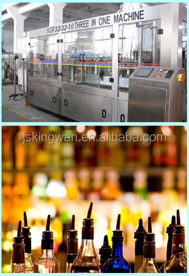 wine filling machine/custom glass bottle beverage/alcohol wine