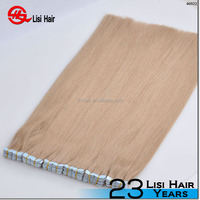 Wholesale 100% Brazilian Virgin Remy Human Hair Brown color PU weft thin Skin Weft double sided