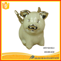 2015 silvering small flying pig polyresin figurine