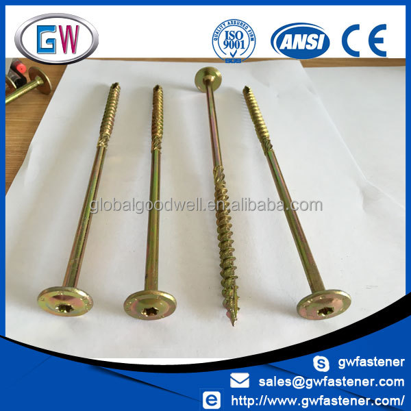 Free Sample Large wafer head star torx 5 inch deck screw for wood