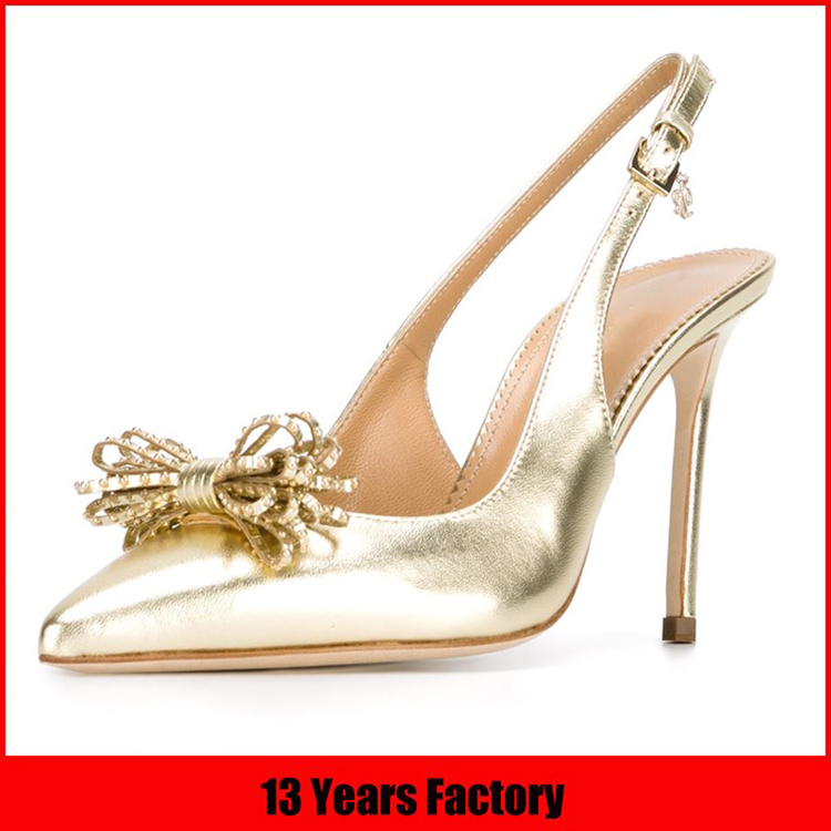 2016 Most popular elegant sliver crystal decoration high heel luxurious women party wear shoes