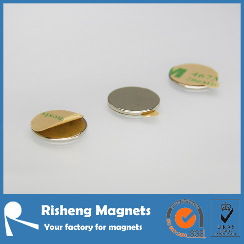 small thin adhesive magnet strong rare earth magnet for bags