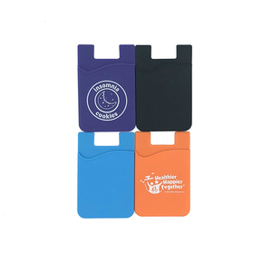 Custom Printed 3M Stickey Silicone Mobile Phone Card Holder