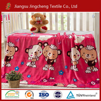 100% polyester flannel blanket printed for baby swaddle blanket/baby muslin blanket factory China JCBL04061
