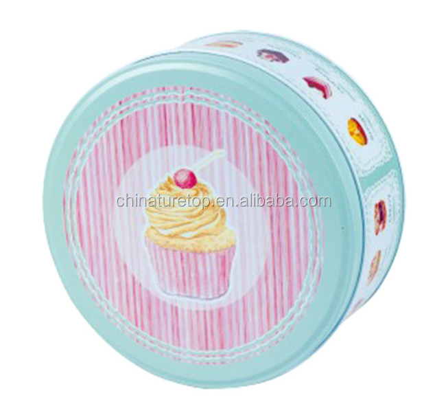 Mini Small Cute Lovely Cartoon Round Metal Tinplate Storage Candy/Cookie/Gift Cans Tin Boxes