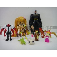 one piece pvc mini figure toy , plastic custom action figure