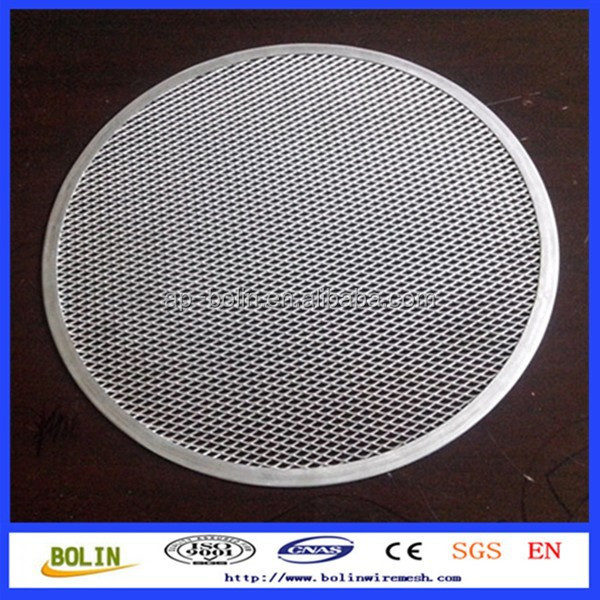 stainless steel/Aluminum diamond hole pizza screen(professional pan screen factory anping China)