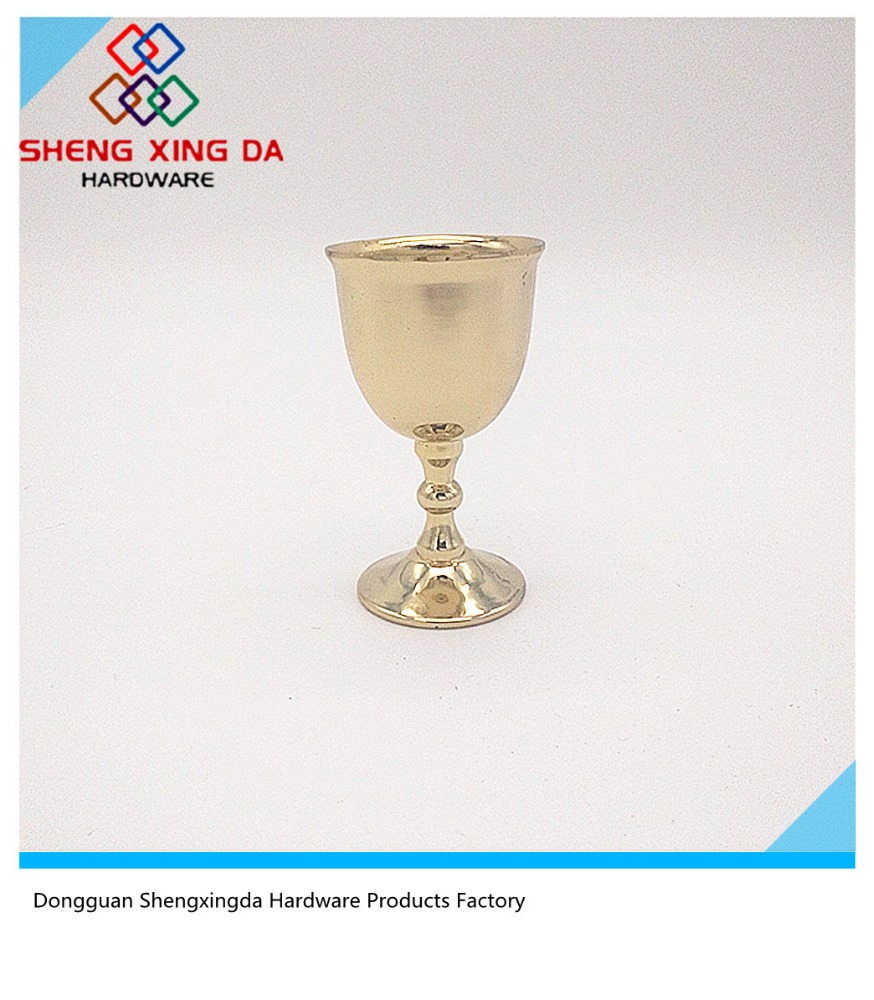 Wholesale Mini Golden Metal Wine Goblet/Glass