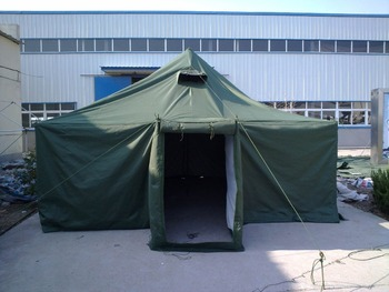 winter 10 people tent with tambour entrance