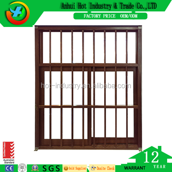 China supplier Modern Style Wood Color Aluminum Windows /Factory Aluminum Sliding Window and Door
