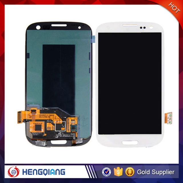 white original with frame for samsung galaxy s3 i9300 lcd screen display