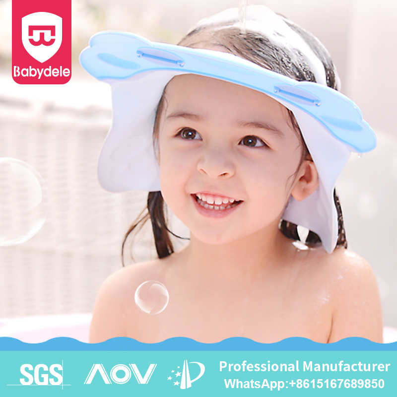 Baby Shower Cap Wash Hair Shield Bath Shampoo Hat Bear Design Protective Baby Safety Products Kids Shower Cap