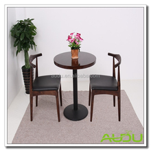 Two Persons Wood Indoor Chinese Restaurant Round Table Furniture