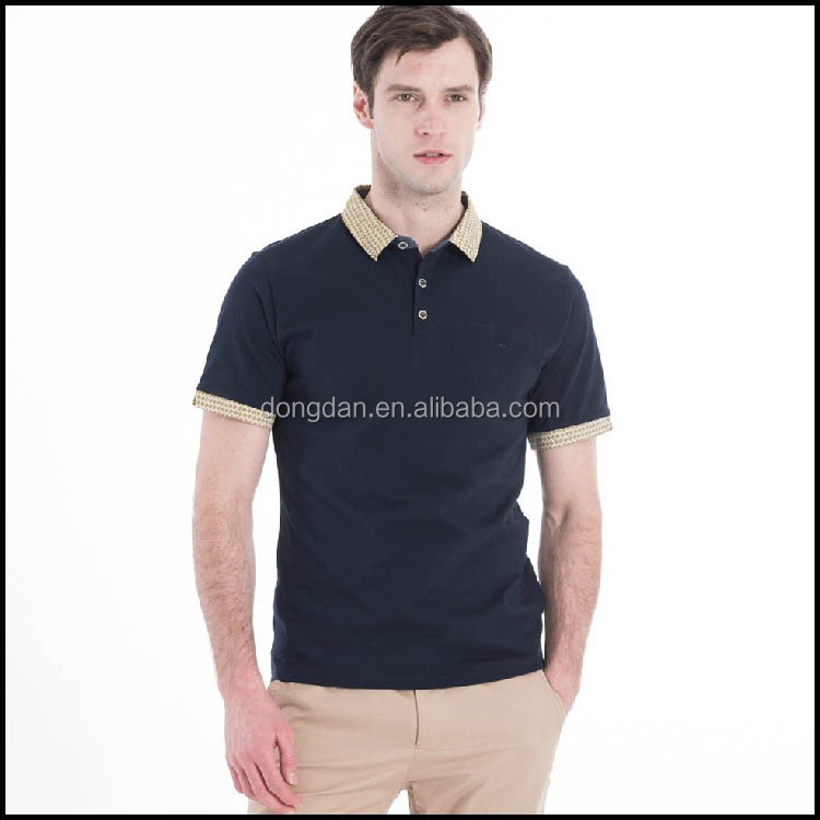 Wholesale custom cheap mens shirt collar design or double for Cheap polo collar shirts
