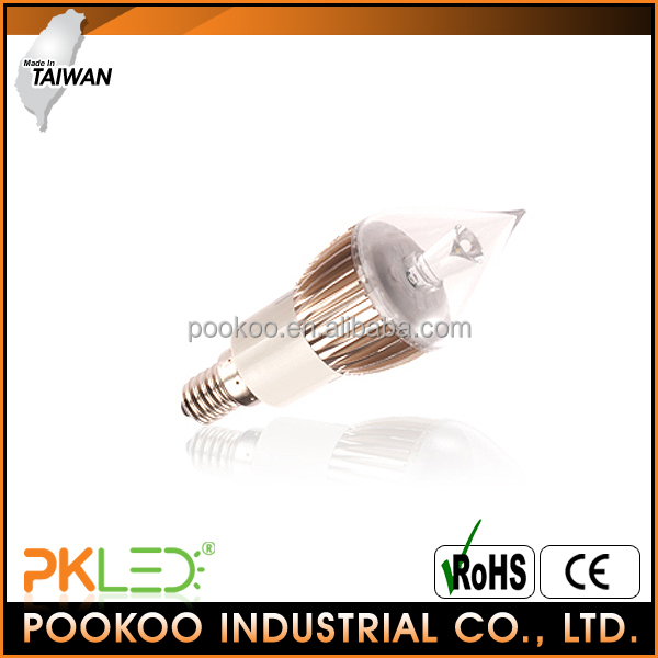 PKLED Taiwan 3W LED Candle Light