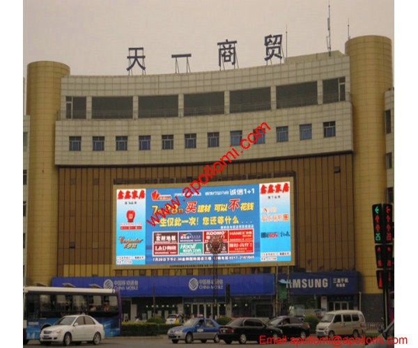 big video mounted fixed advertising P20mm led panels