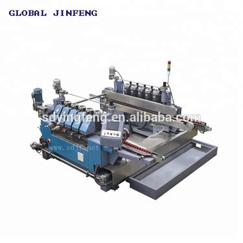 40x40mm very Small Size Glass double edging polishing machine for flat edge working