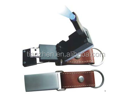 Best Promotion Gift High Quality Real Leather USB Flash Drive