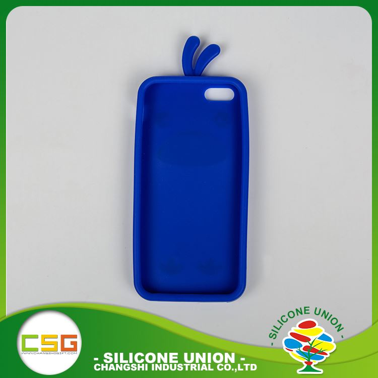 Soft 3D logo various colors custom silicone waterproof cell phone case