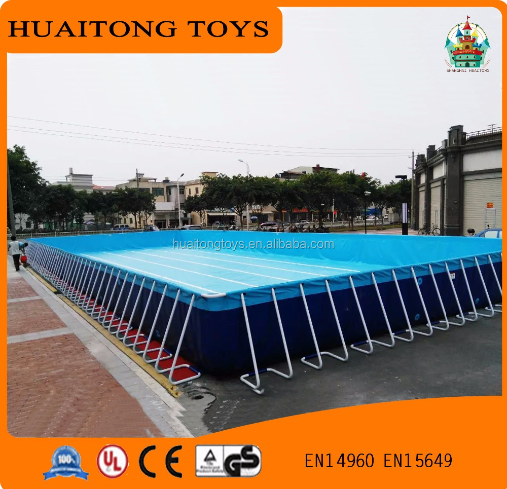 2016 new type popular inflatable adult/kids swimming pool on land