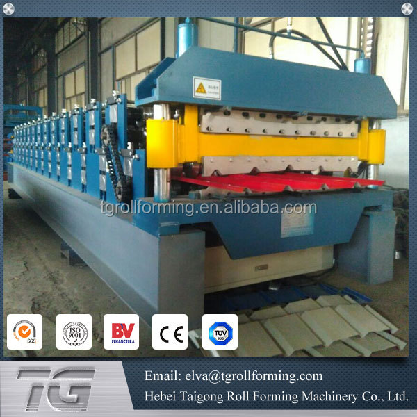New style double layer aluminium roof tiles roll forming machine
