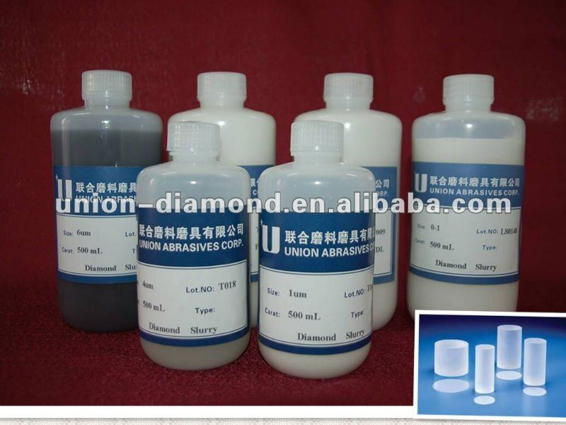 Easily cleaning 3 & 6 micron polycrystalline diamond slurry for sapphire wafer polishing hotselling in USA Korea Europe Japan