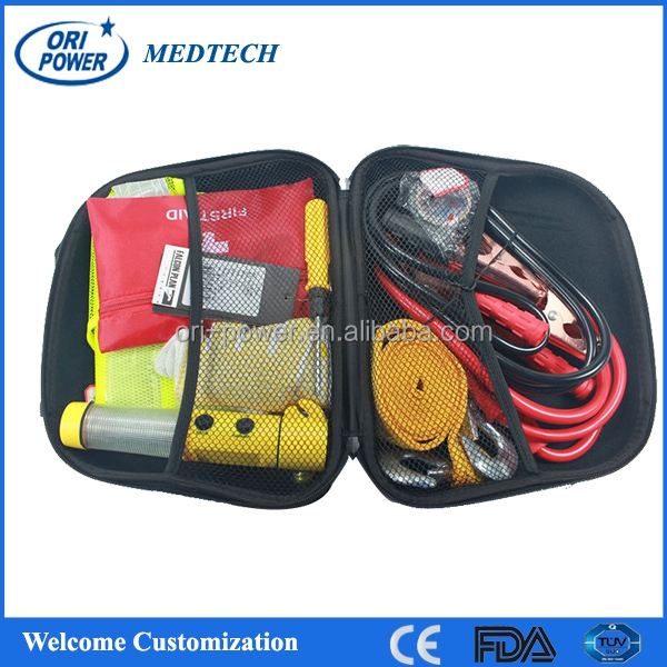 OP wholesale ISO FDA CE approved professional vehicle automobile auto roadside emergency kits