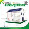Detail 5kw portable solar power system kits design with mppt solar controller