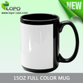 Made in China wholesale cheap price 15oz sublimation heat transfer full color mug with white patch