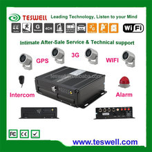 Teswell TS-820 4channel full d1 mobile dvr with obd system ,3G,wifi ,GPS mobile DVR