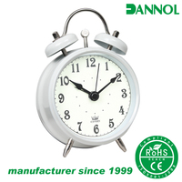 best selling 3inch antique mini promotional metal desk alarm clock