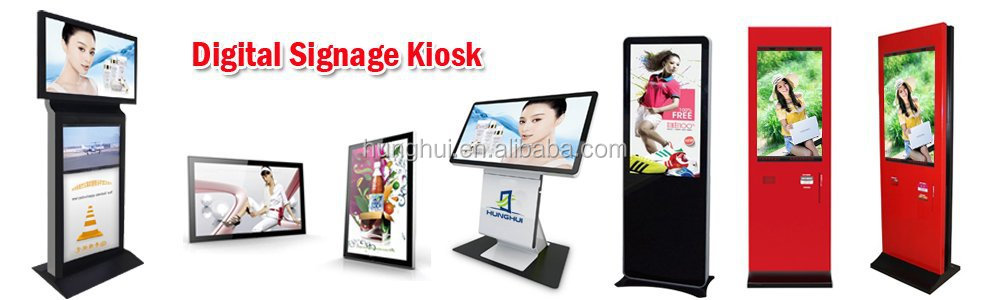 21.5 inch Free Standing PC IR Touch kiosk with printer