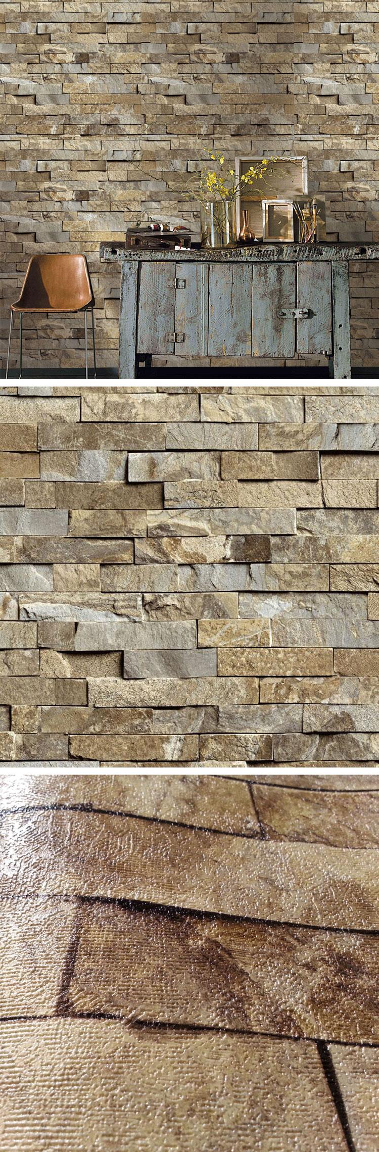 Ys10603 high quality cheap price 3d brick wallpaper for for Cheap brick wallpaper